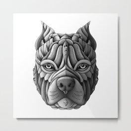 Ornate Pitbull Metal Print