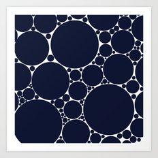 Floating Dots Art Print
