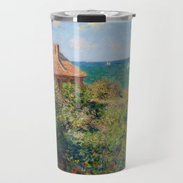 Fisherman's Cottage on the Cliffs at Varengeville Claude Monet Travel Mug