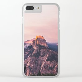 Purple Yosemite Valley in California United States of America Clear iPhone Case