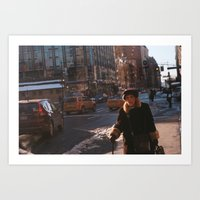 Gold and Fur  - NYC Street  Art Print