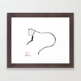 Cat 1 Framed Art Print