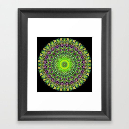 Snowflake #002 solid Framed Art Print