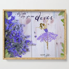 Dance Away Serving Tray