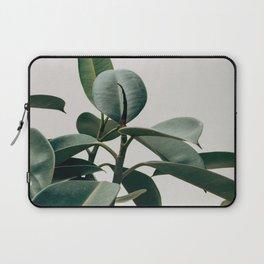 Minimalist Mid Century Modern House Plant Green Leaves Laptop Sleeve