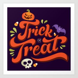 Happy Halloween Trick or Treat Time Art Print