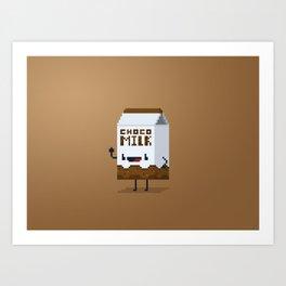 Choco Milk Art Print
