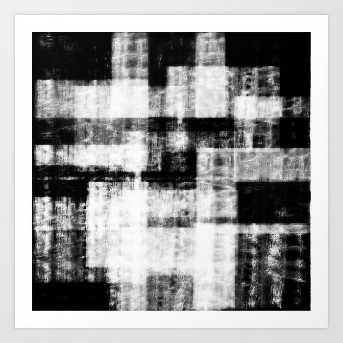 Black & White Abstract Series ~ 1 Art Print