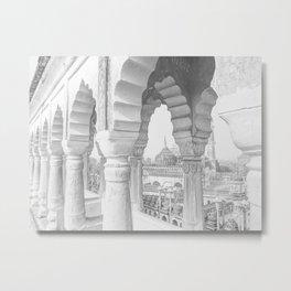 Bara Imambara, Lucknow, India - Black & White #1 Metal Print