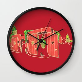 Wood-Glasses Wall Clock