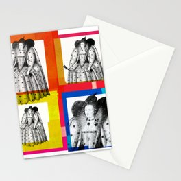 QUEEN ELIZABETH THE FIRST, 4-UP POP ART COLLAGE Stationery Cards