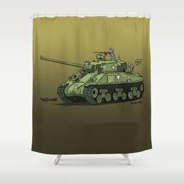 Dogs of War: Sherman Tank Shower Curtain