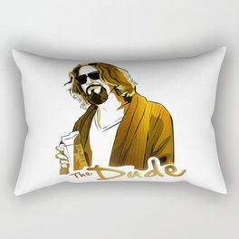 the dude gold edition Rectangular Pillow