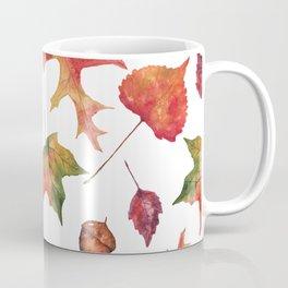 Autumn Elements Pattern Coffee Mug