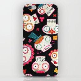 Sugar Skulls and Flowers iPhone Skin