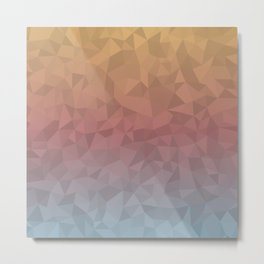 Dull Ombre Metal Print