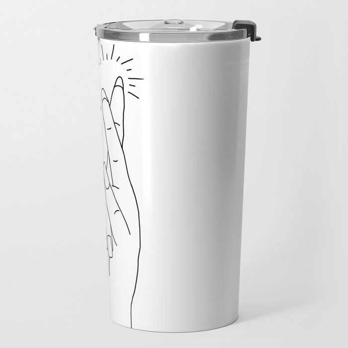 Fingers Crossed Travel Mug