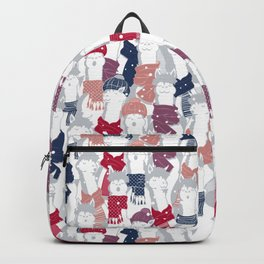Happy llamas Christmas Choir III Backpack