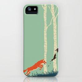 Fox Chasing Birds iPhone Case