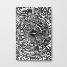 MUSICAL TYPE WHEEL Metal Print