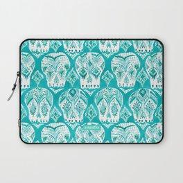 SKULLAGOG Aqua Watercolor Skulls Laptop Sleeve
