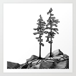 Northern Pines Art Print