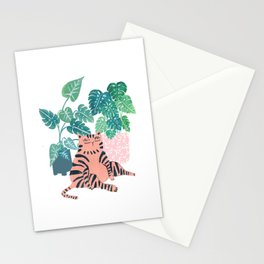 Fat Plant Kitty Stationery Cards