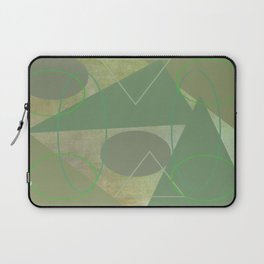 Subdued Green Geometric Abstract Laptop Sleeve