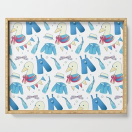 Breathless Duckie Blue Serving Tray
