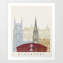 Blackburn skyline poster Art Print