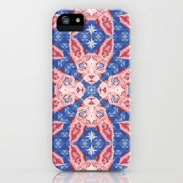Sphynx Cat - Rose Quartz and Serenity version iPhone Case