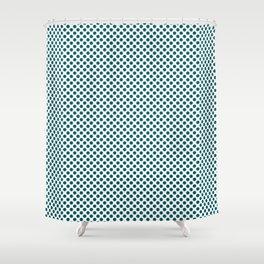 Shaded Spruce Polka Dots Shower Curtain