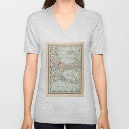 Vintage Cape Cod Map (1893) Unisex V-Neck