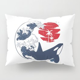 Wave Killer Whale Pillow Sham