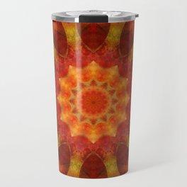 Mandala orangered Travel Mug