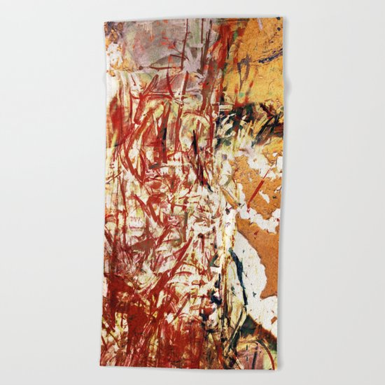 Red and Yellow Wall Beach Towel