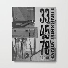 33/45/78 (Black) Metal Print