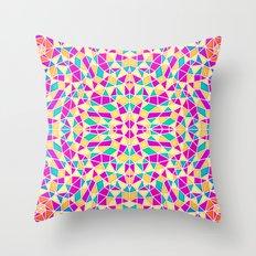 Geometric Multi Color Kaleidoscope Throw Pillow