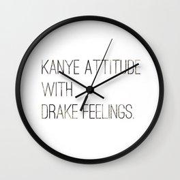 Hip Hop Attitude Poster Wall Clock