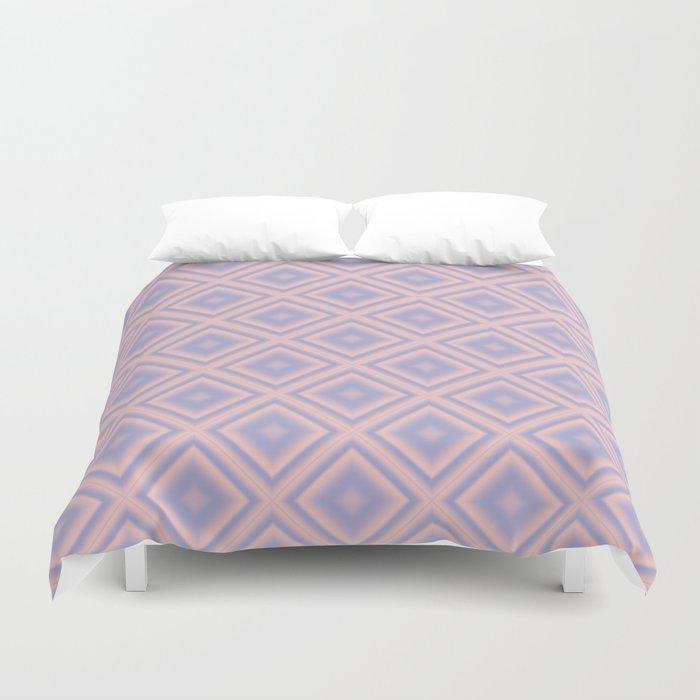Starry Tiles in Rose Quartz and Serenity Duvet Cover