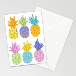 Colorful Pineapples Stationery Cards