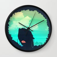 afro Wall Clocks featuring Afro by Studio Samantha