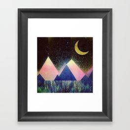 Satellite Bloom Framed Art Print