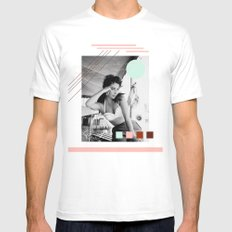E.T. Collage White Mens Fitted Tee MEDIUM