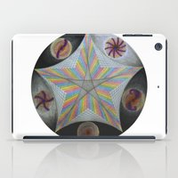 pentagram iPad Cases featuring Galactic Pentagram (ANALOG zine) by johngerGEOs