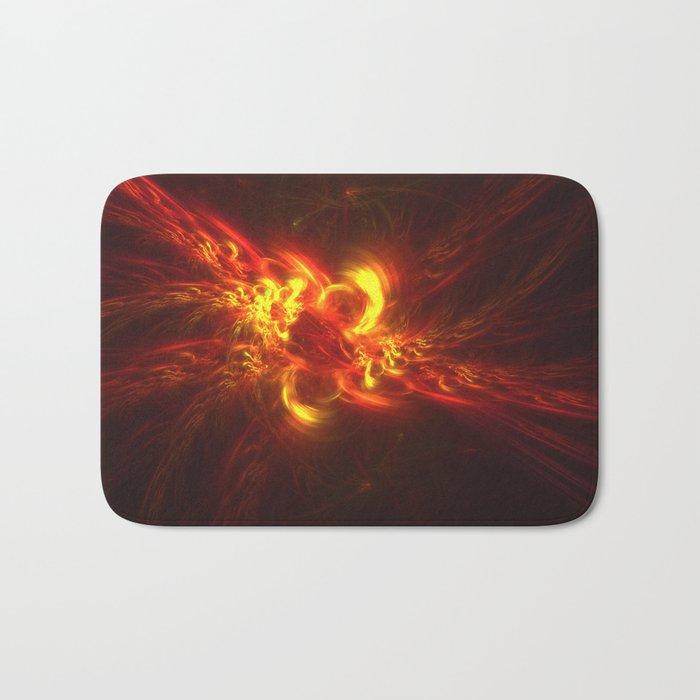Fractal Flame Explosion Bath Mat