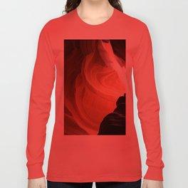 Antelope Canyon Reddish And Blue Tones Long Sleeve T-shirt