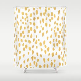 Minimalist Gold Shower Curtain
