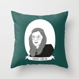 Margaret Hamilton Illustrated Portrait Throw Pillow