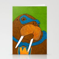 walrus Stationery Cards featuring Walrus by subpatch